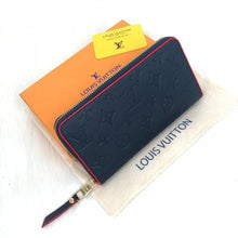 Load image into Gallery viewer, Zippy Wallet Monogram Empreinte Leather Navy Blue