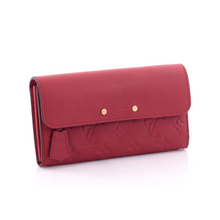 Load image into Gallery viewer, Pont-Neuf Wallet Monogram Empreinte Leather Red