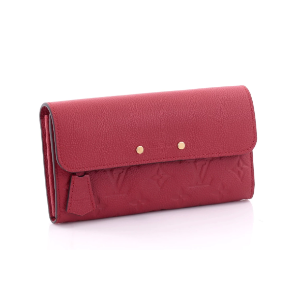 Pont-Neuf Wallet Monogram Empreinte Leather Red