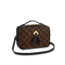 Load image into Gallery viewer, Saintonge Monogram Canvas Cross Body Black Leather