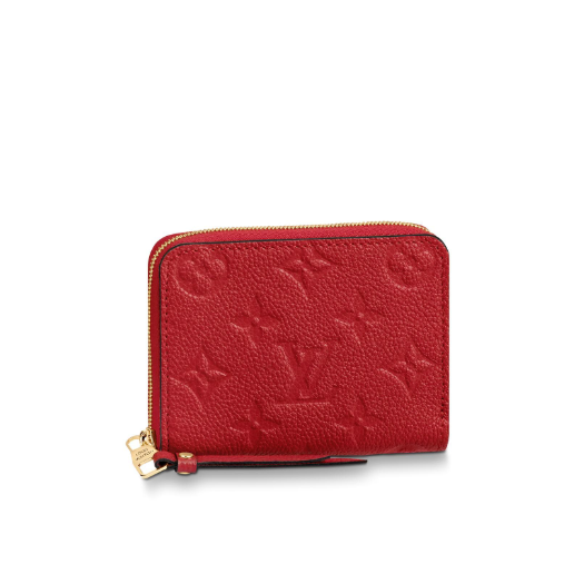 Zippy Coin Purse Monogram Empreinte Leather Red