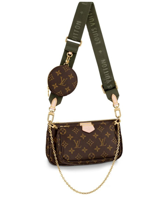 Multi Pochette Monogram Canvas Green Accessories