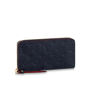 Zippy Wallet Monogram Empreinte Leather Navy Blue