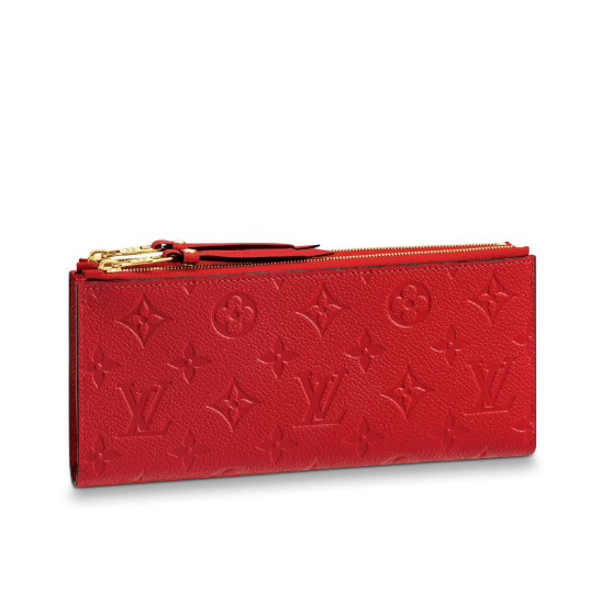 Adele Wallet Monogram Empreinte Red