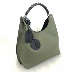 Mahina Leather Carmel Hobo Bag Green