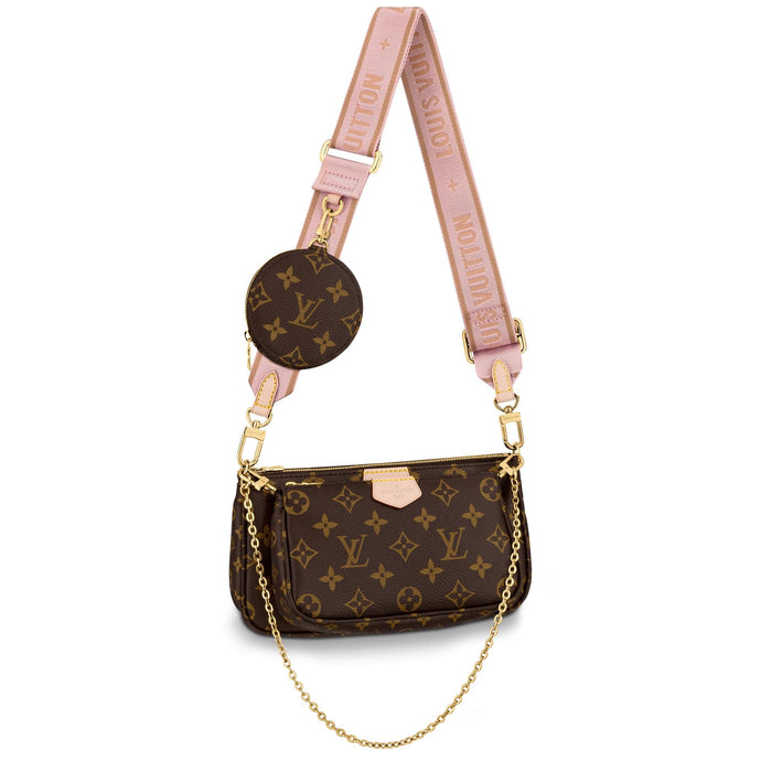 Multi Pochette Monogram Canvas Pink Accessories