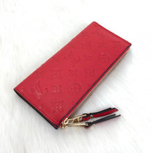 Load image into Gallery viewer, Adele Wallet Monogram Empreinte Red