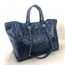 Load image into Gallery viewer, Glazed Deauville Tote Bag Blue