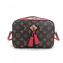 Load image into Gallery viewer, Saintonge Monogram Canvas Cross Body Red Leather