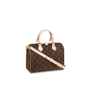 Speedy Bandouliere 25 Tote Bag Monogram Canvas Leather