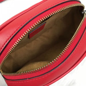 Marmont Belt Bag In Red Matelasse Leather