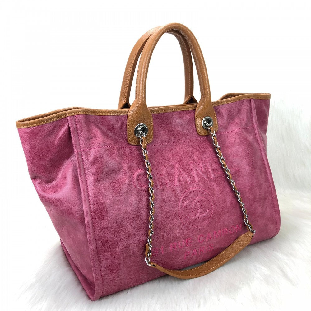 Glazed Deauville Tote Bag Pink
