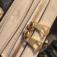 Load image into Gallery viewer, Saintonge Monogram Canvas Cross Body Cream Leather