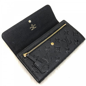 Pont-Neuf Wallet Monogram Empreinte Leather Black