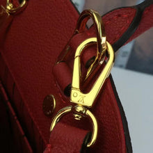 Load image into Gallery viewer, Montaigne MM Tote Bag Monogram Empreinte Leather Red