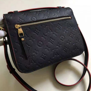 Pochette Metis Crossbody Bag Monogram Empreinte Leather Navy Blue