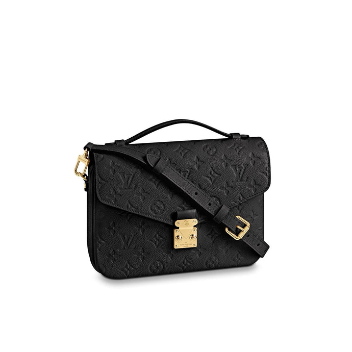 Pochette Metis Crossbody Bag Monogram Empreinte Leather Black