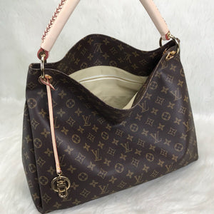 Artsy MM Bag Monogram Canvas Leather