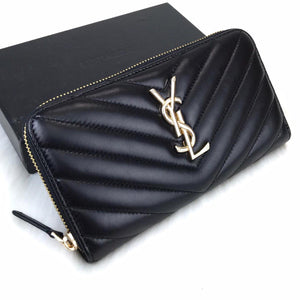 YSL Zippy Wallet Black