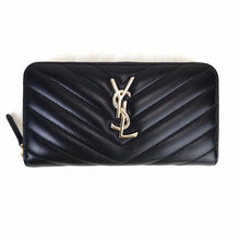 Load image into Gallery viewer, YSL Zippy Wallet Black