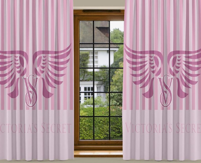 New 2PCS Curtain VS