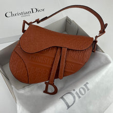 Load image into Gallery viewer, Christian Dior Saddle Embossed Calfskin Bag Brown