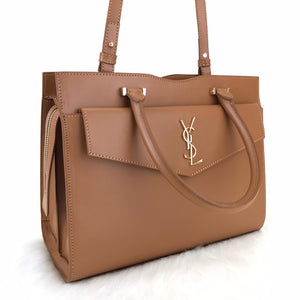 Uptown Medium Tote Bag Tan