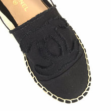 Load image into Gallery viewer, CH Tweed Espadrilles Black