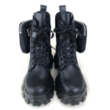 Load image into Gallery viewer, Prada Ankle Pouch Combat Boots Women