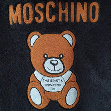 Load image into Gallery viewer, Moschino Teddy İcon Coat Black