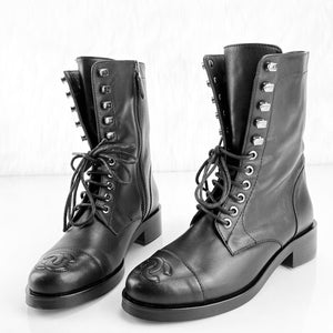 Chanel Lace-Up Boots Women