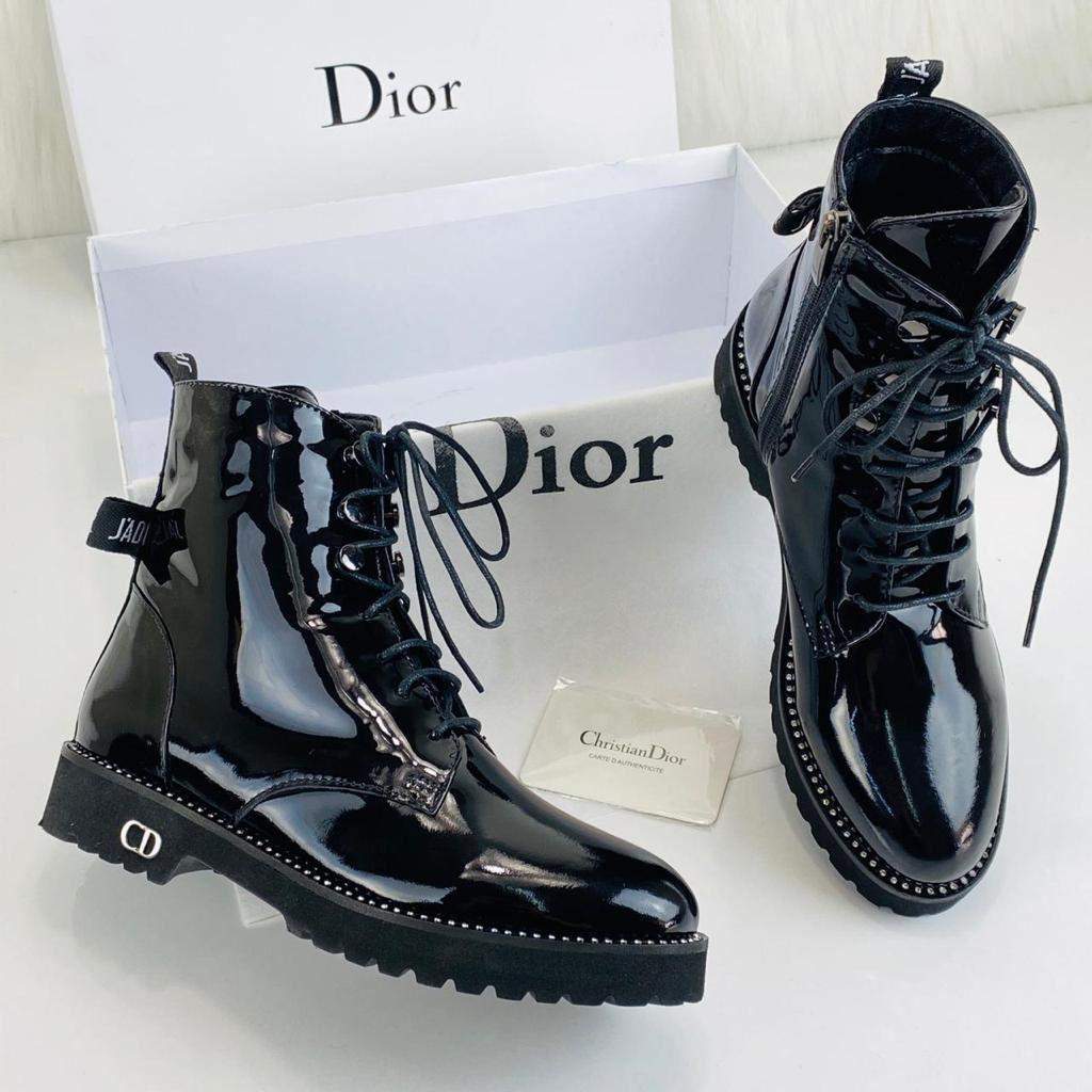 Christian Dior Rebelle Army Boots Women