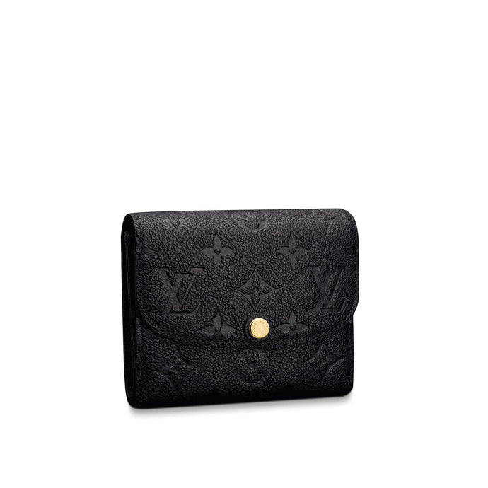 Ariane Wallet Empreinte Leather Black