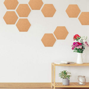 Hexagon Cork Board Tiles