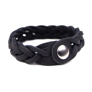 Leather Trinity Braid Bracelet