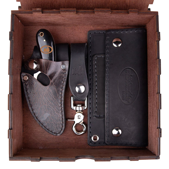 Buffalo Black & Brown Trio (Optional Box) - 5 Inch