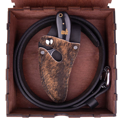 Brindle Hide Belt Combo (Optional Box) - 7 Inch