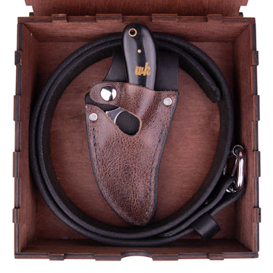Buffalo Black & Brown Belt Combo (Optional Box) - 7 Inch