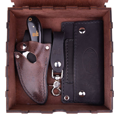 Buffalo Black & Brown Trio (Optional Box) - 7 Inch