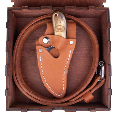 Chestnut Belt Combo (Optional Box) - 7 Inch