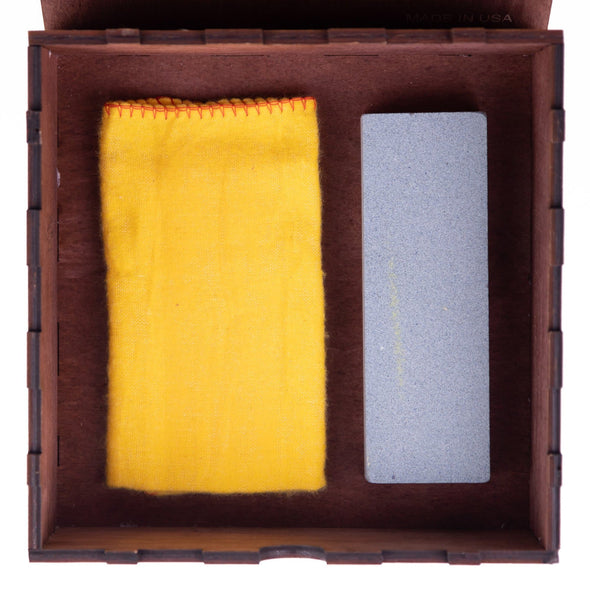 Gift Box with Sharpening Stone and Polishing Cloth