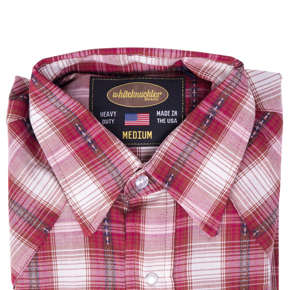 Rebel Red Cotton Plaid Shirt