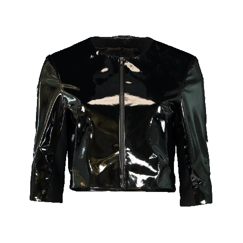 Patent Leather Cardigan