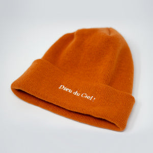 Tuque orange Dieu du Ciel!