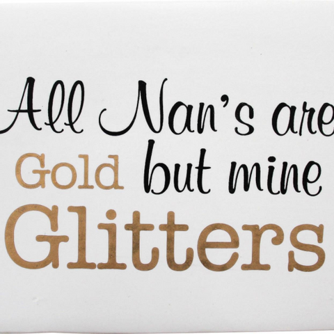 Ceramic Sign Nan Glitters