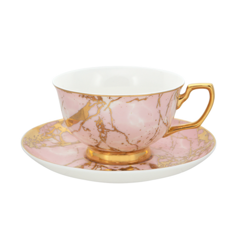 Teacup - Bone China 24ct Gold Trimmed