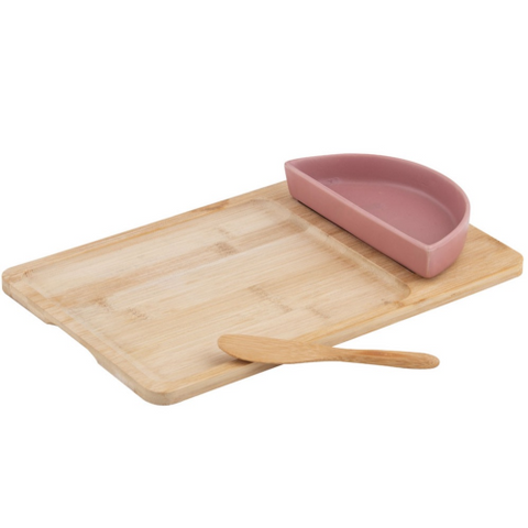Amore Bowl & Spreader on Bamboo Board Set