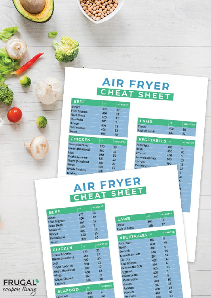 Air Fryer Cheat Sheet