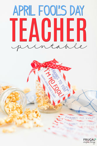 Thanks To You, I'm No Fool Teacher Gift Tag