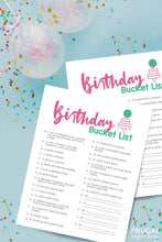 Load image into Gallery viewer, Birthday Printables Bundle - Bucket List, Games, Interview, RAK